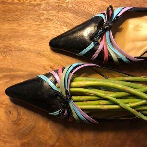 Asparagus filled kitten heels 👠